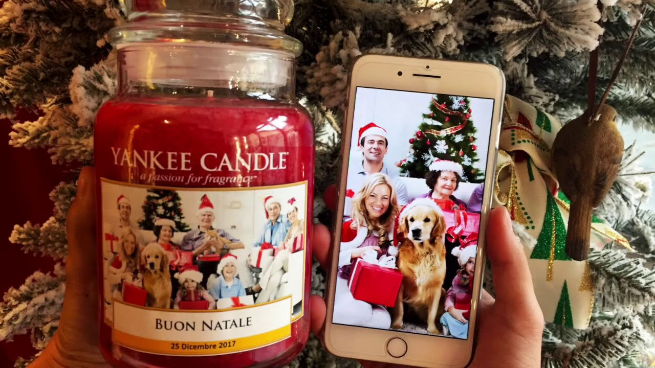 Yankee Candle Natale.Yankee Candle Natale Con Foto Personalizzata Youtube