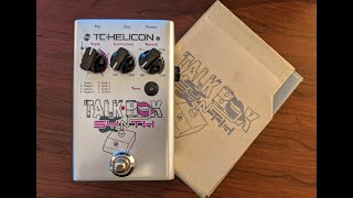 TC Helicon Talkbox Synth Vocal Effect Pedal Demo