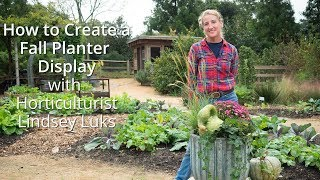 How to Create a Fall Planter Display