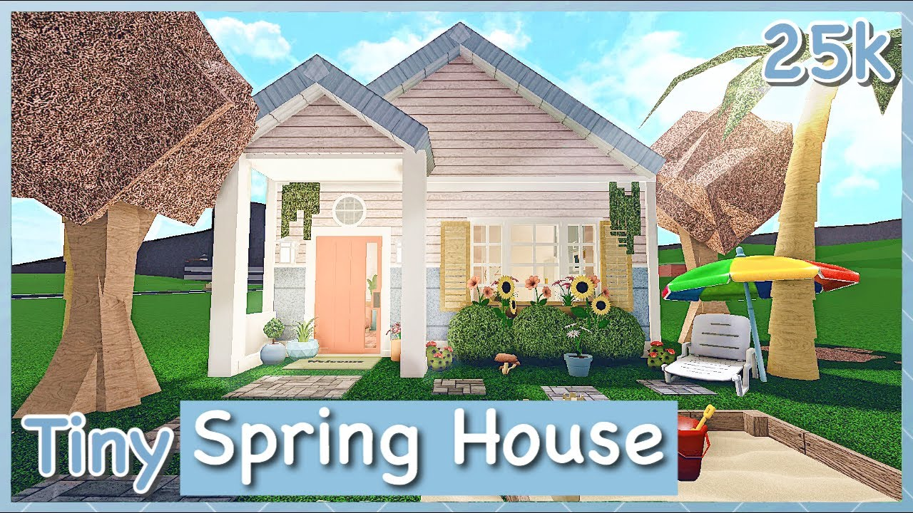 Bloxburg Tiny Spring House Speed Build Youtube