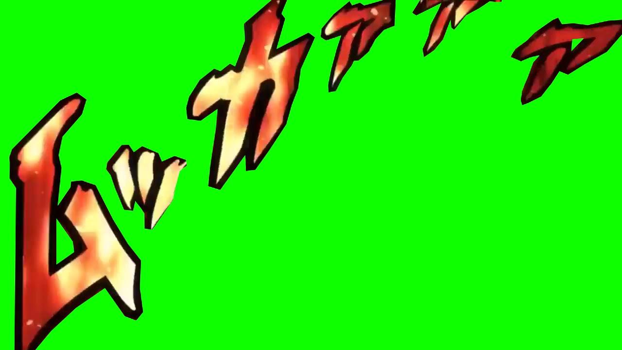 jojo onomatopoeia greenscreens with sfx - YouTube