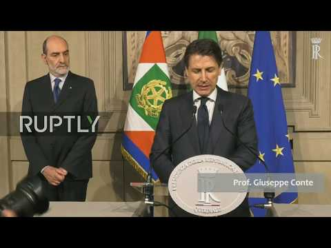 Live: Italian Prime Minister-designate Conte meets President in Rome to seek cabinet endorsement