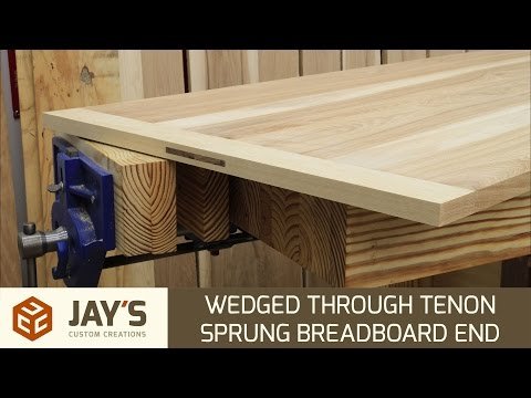 Wedged Through Mortise And Tenon Sprung Breadboard End - 239