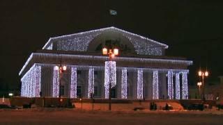Новогодний Санкт- Петербург, - Лазерное шоу на Дворцовой площади