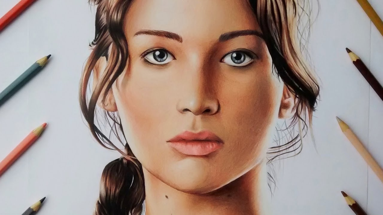 Desenhando Katniss Everdeen (Jogos Vorazes) /Drawing