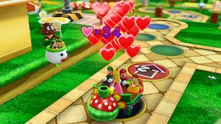 Mario Party 10 - Mario, Luigi, Peach, Daisy vs Bowser - Mushroom Park