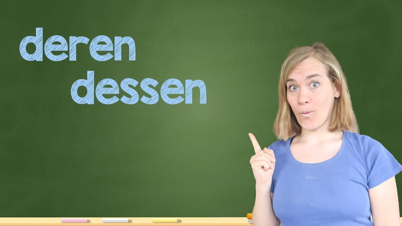 german lesson 328 relativpronomen im genitiv dessen deren b1 b2 youtube. Black Bedroom Furniture Sets. Home Design Ideas