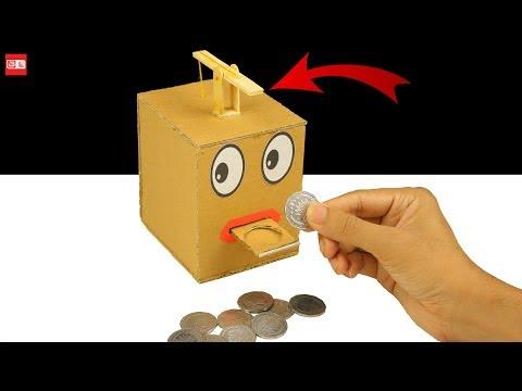 How to Make a Box Eating Coin - Saving Coin Bank DIY