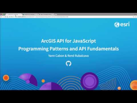 ArcGIS API for JavaScript Programming Patterns and API Fundamentals