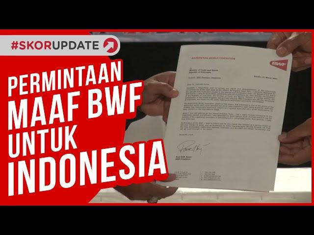 MENPORA TANGGAPI PERMINTAAN MAAF BWF ATAS INSIDEN MUNDURNYA TIM BULU TANGKIS INDONESIA DI ALL ENGLAN