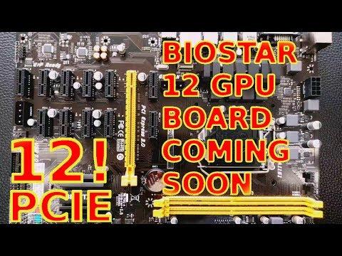 Biostar 12GPU TB250 Version 2 Motherboard Coming Soon! PRO BTC Mining Ethereum ZCash