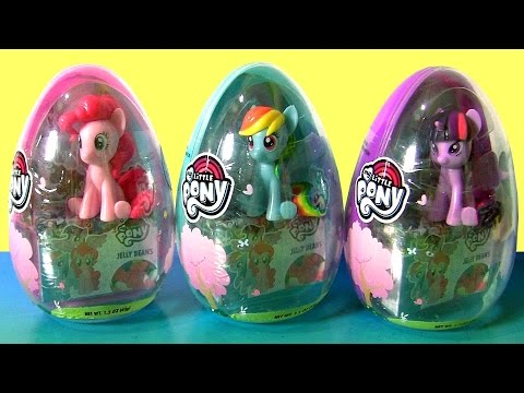 My Little Pony Easter Egg Surprise 2017 *NEW* Pinkie Pie, Twilight Sparkle, Rainbow Dash by FUNTOYS