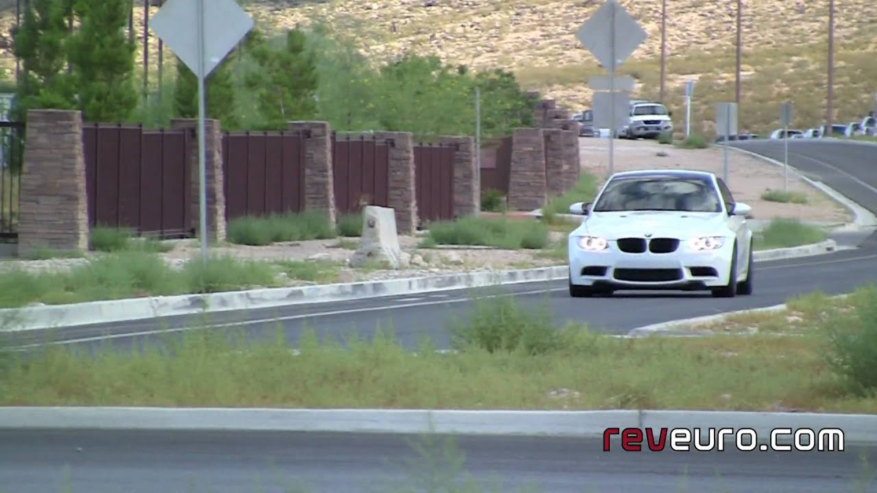 Great BMW M3 Coupe E92 Alpine White Test Drive Carbon