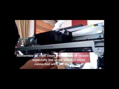 Cleaning head of t-shirt printer, Whatsapp:+86 15638884006
