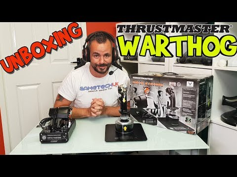 Thrustmaster Warthog Unboxing And Close Look - 2019