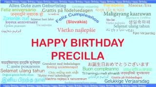 Precilla   Languages Idiomas - Happy Birthday