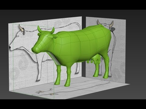 Cow Modeling 3DS Max 01: Base