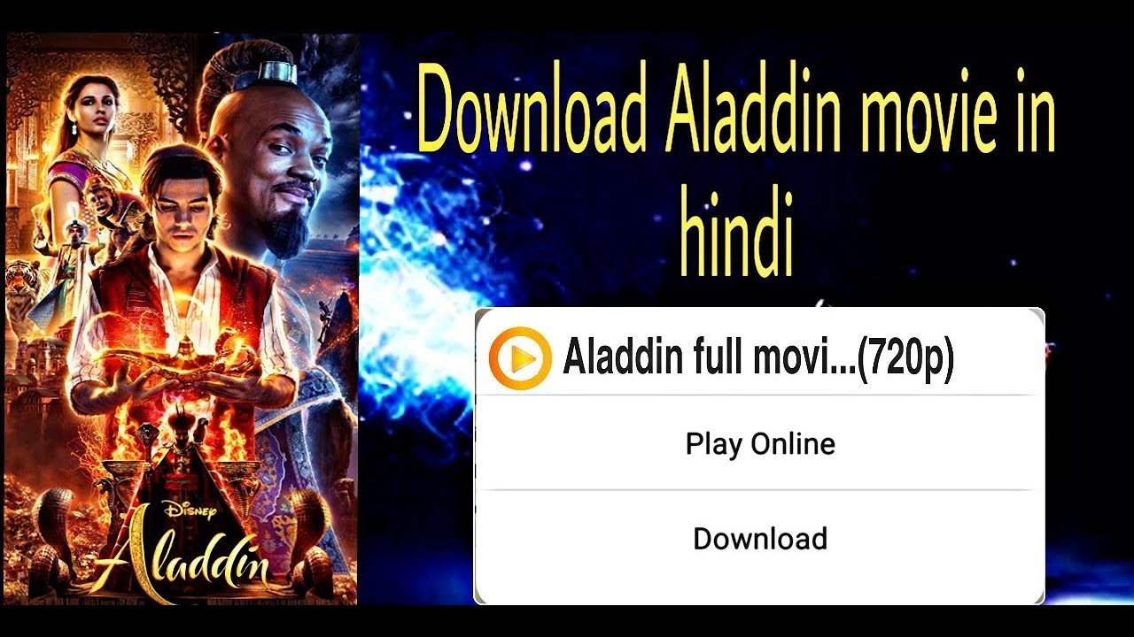 Download How to download  Aladdin(2019) full movie in Hindi with proof
