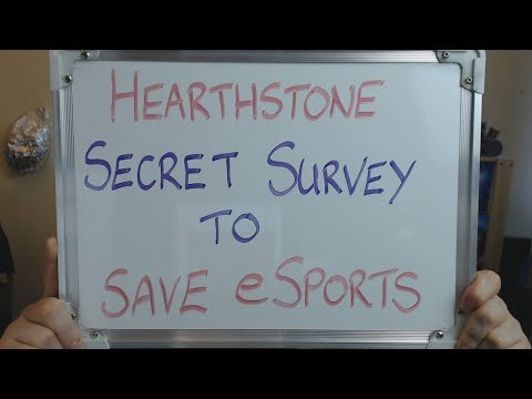 HEARTHSTONE Secret Survey to SAVE eSports !!