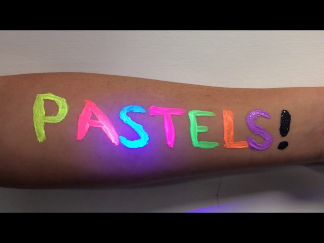 PaintGlow™ UV Pastel Face & Body Paint