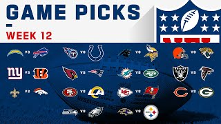 Week 12 Game Picks! | NFL 2020