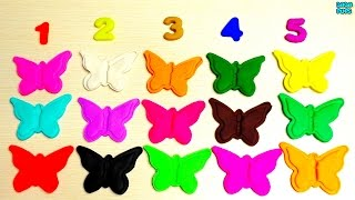 Learn To Count with Play Doh 1-20| Learn colors with  Rainbow of Butterflies with Play Dough