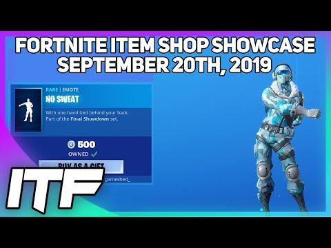 Fortnite Item Shop NO SWEAT IS BACK! [September 20th, 2019] (Fortnite Battle Royale)