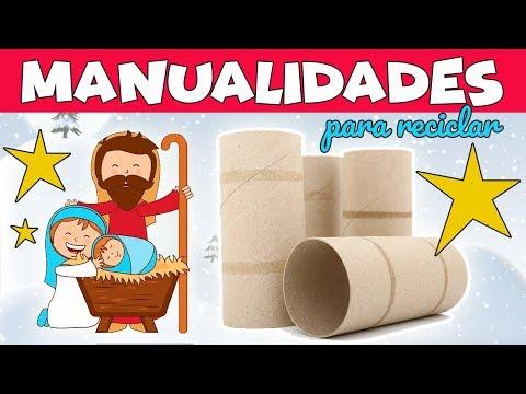 MANUALIDADES PARA NAVIDAD con RECICLAJE. Portal de Belén