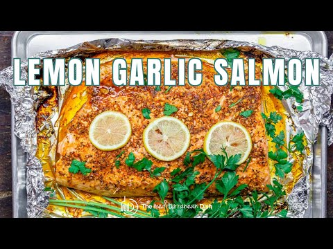Lemon Garlic Salmon with Mediterranean Flavors | The Mediterranean Dish