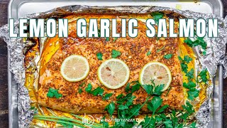 Lemon Garlic Salmon wİth Mediterranean Flavors | The Mediterranean Dish