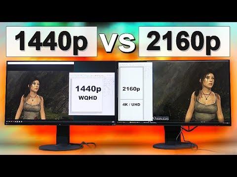 1440p vs 4K (2160p) Monitor -- Auf was man achten muss!