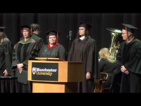 Manchester University Graduate Commencement 2017