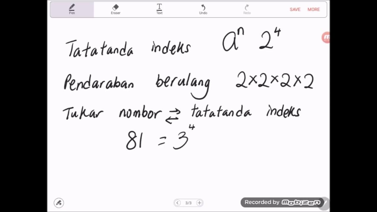 Bab 1 Matematik Tingkatan 3 2019 Konsep Asas Indeks Youtube
