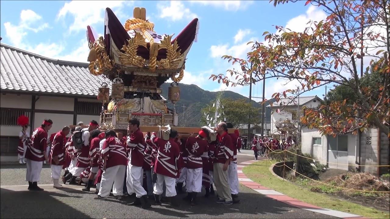 川辺八幡神社宵宮 東川辺蔵出(平成30年10月6日) - YouTube