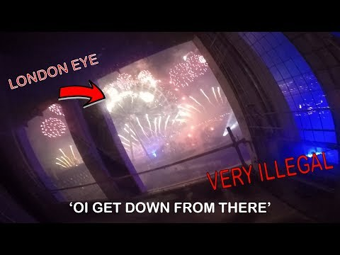 INSANE POLICE & SECURITY CHASE ON NEW YEARS! *Arrested*