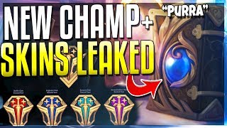 NEW CHAMPION 'PURRA' LEAKED + NEW SKINS CONFIRMED!! - League of Legends