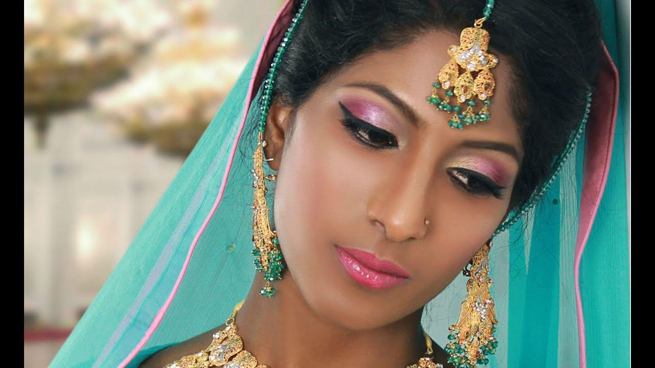 Pink Bridal Makeup Tutorial For Uneven Skin Tones For
