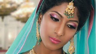 Pink Bridal Makeup Tutorial for Uneven Skin Tones for Asian / South Indian Skin