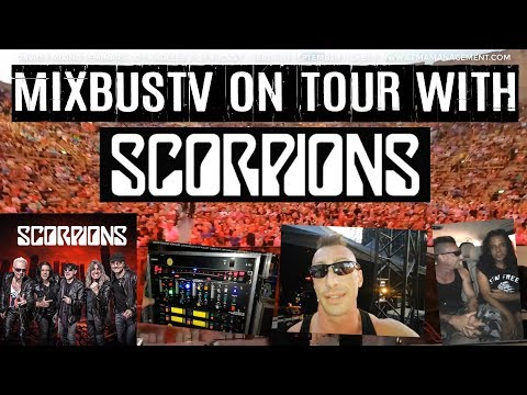 MixbusTv SCORPIONS LIVE EXCLUSIVE Backstage Footage: Detailed Guitar Bass Vocal Live Rigs Setup
