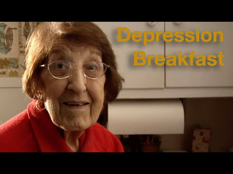 "This youtube channel is a 91 year old woman cooking meals from the great depression. Here she cooks: ""Depression Breakfast"""