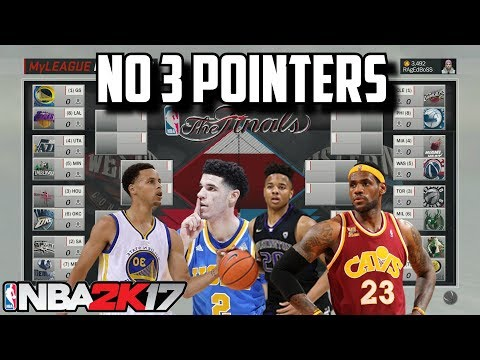 THE NBA REMOVES THE 3 POINT LINE IN 2018 PLAYOFF SIMULATION IN NBA2K17!!!