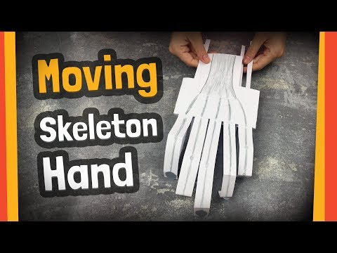 Moving skeleton hand craft   Great for halloween party or any DIY activities with kids.