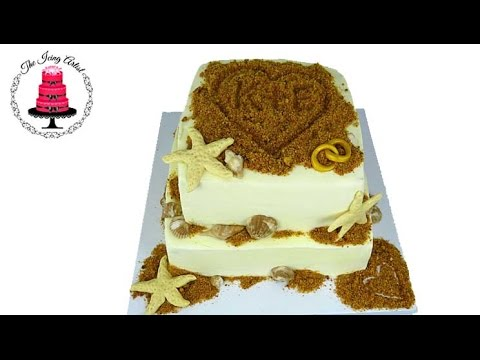 Cake Decorating Icing Artist : Sand Castle Beach Cake - How To With The Icing Artist ...