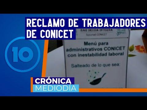 Becarios de Conicet realizaron una protesta en Córdoba