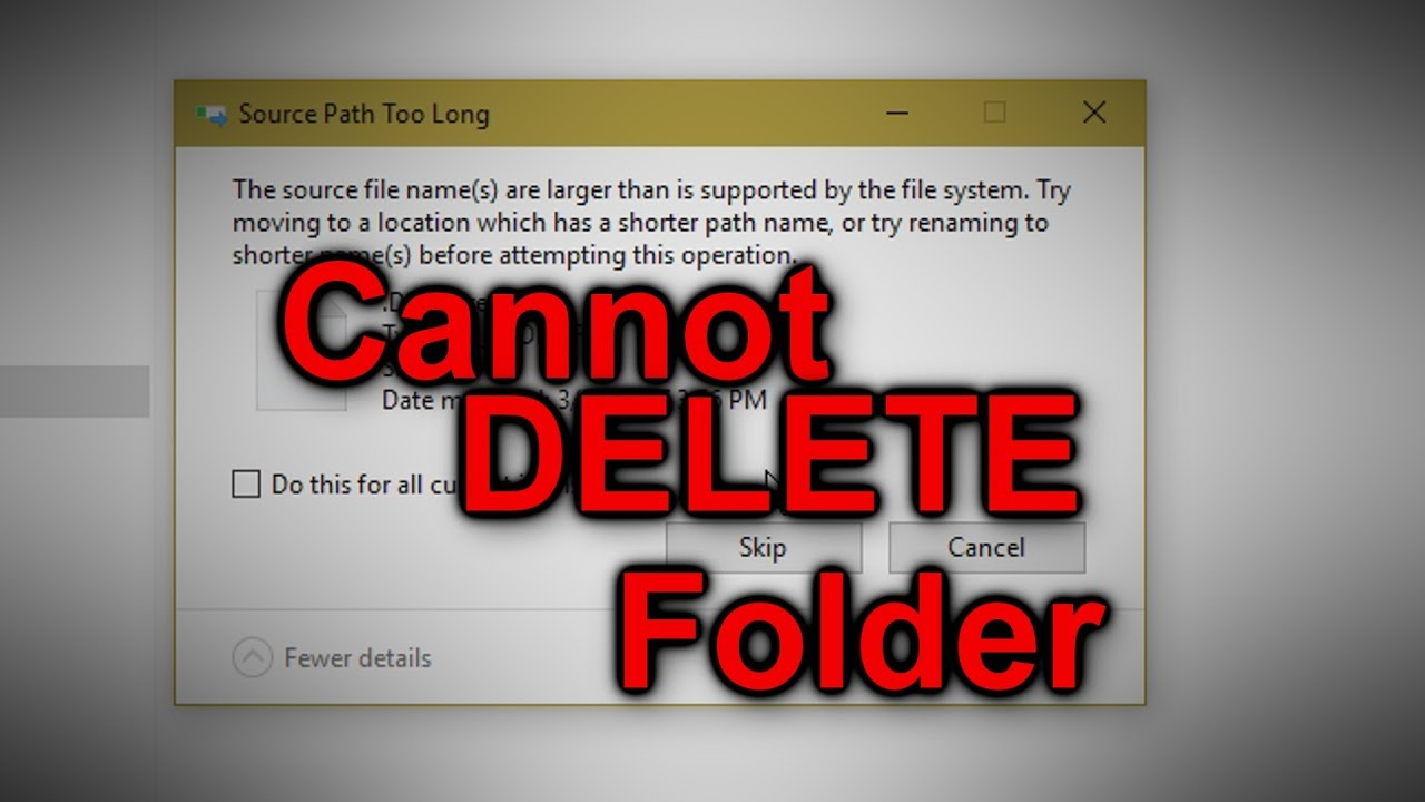 How to delete files or folders that cannot be deleted - Tutorial