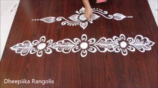 simple side border rangolis border kolams sides rangolis border rangoli designs