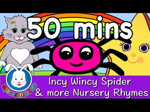 Incy Wincy Spider & more Nursery Rhymes with lyrics