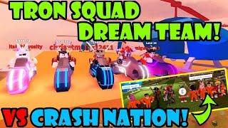 TRON SQUAD DREAM TEAM vs CRASH NATION | NEW TRACK UPDATE! Roblox JAILBREAK