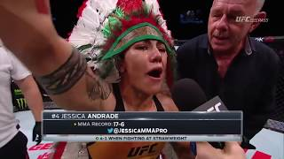 Fight Night Japan: Jessica Andrade Octagon Interview