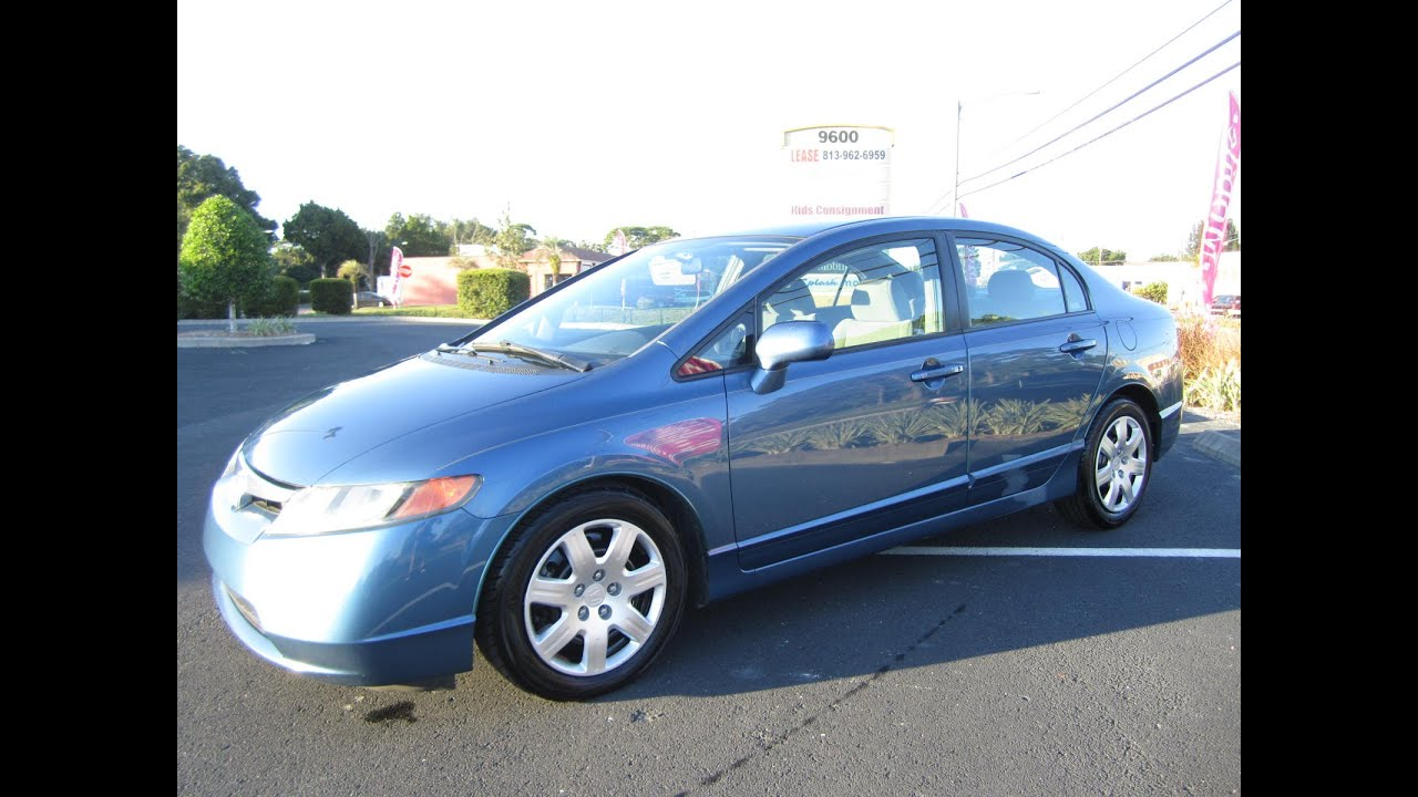 Sold 2008 Honda Civic Lx Sedan One Owner Meticulous Motors
